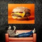 Cheeseburger Fast Food Cool Huge 47x35 Print POSTER