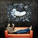 Stone Foot Toes Pebbles Cool Huge 47x35 Print POSTER