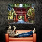 Asian Gate Nature Forest Road Huge 47x35 Print POSTER