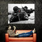 Black Scout Soldier Military Weapon Huge 47x35 Print POSTER