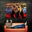 Russian Bear Flag Power Mood Huge 47x35 Print Poster