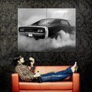Dodge Charger RT BW Muscle Car Auto Huge 47x35 Print POSTER