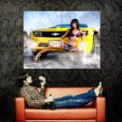 Chevrolet Camaro Hot Girl Car Auto Huge 47x35 Print POSTER