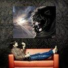 Dark King Lion Wild Cat Art Animal Huge 47x35 Print Poster
