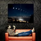 Lunar Phase Moon Night Space Huge 47x35 Print POSTER