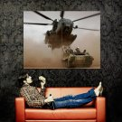 Helicopter APC Dust Military Aircraft POSTER