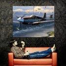 Aircraft World War 2 Plane Shore Huge 47x35 Print Poster
