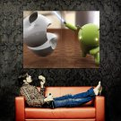 Android Vs Apple Logo Cool Huge 47x35 Print Poster