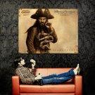 BLACKBEARD Art Pirates Caribbean Huge 47x35 Print Poster