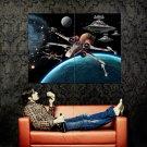 X Wing TIE Fighter Star Wars Huge 47x35 Print Poster
