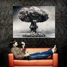 Mushroom Clown Nuclear Cool Art Huge 47x35 Print Poster
