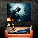 BATCYCLE Jump Batman Dark Knight Huge 47x35 Print Poster