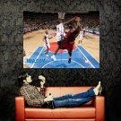 Ben Wallace Block On Shaq NBA Huge 47x35 Print Poster