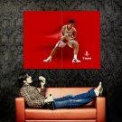 Yao Ming Houston Rockets NBA Huge 47x35 Print Poster