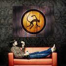 Cool Wooden Monkey Logo Creative Art Huge 47x35 Print Poster