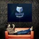 Memphis Grizzlies Logo NBA Huge 47x35 Print Poster