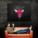 Chicago Bulls Logo NBA Basketball Huge 47x35 Print Poster