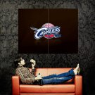 Cleveland Cavaliers Logo NBA Huge 47x35 Print Poster