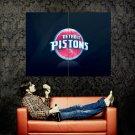 Detroit Pistons Logo NBA Huge 47x35 Print Poster