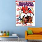 Captain Britain Comics Night Raven Huge 47x35 Print POSTER
