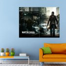 Action Adventure Watch Dogs Game Huge 47x35 Print POSTER