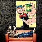 Popeye The Sailor Man Retro Movie Painting Huge 47x35 Print Poster