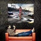 Nascar Finish Line GirlSexy Hot Car Huge 47x35 Print Poster