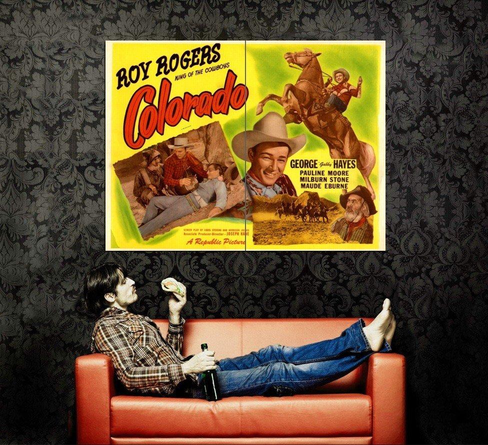 Colorado Roy Rogers Retro Movie Vintage Huge 47x35 Print Poster