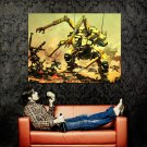 Battletech Repair Mech Game Art Huge 47x35 Print Poster