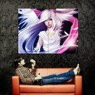 Anime Girl Feathers Art Huge 47x35 Print Poster