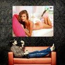 Nina Agdal Hot Beautiful Model Sexy Lingerie Huge 47x35 Print Poster