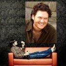 Blake Shelton Smile Country Singer Music Huge 47x35 Print Poster