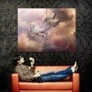 Flying Unicorn Fantasy Artwork Huge 47x35 Print Poster