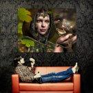 Fantasy Girl Dragon Fairy Artwork Huge 47x35 Print Poster