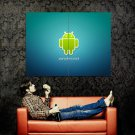 Android Brand Logo Huge 47x35 Print Poster