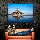 Mont Saint Michel Lower Normandy France Huge 47x35 Print Poster