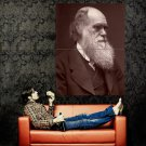 Charles Darwin Portrait Huge 47x35 Print Poster