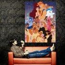 Hercules Characters Walt Disney Art Huge 47x35 Print Poster