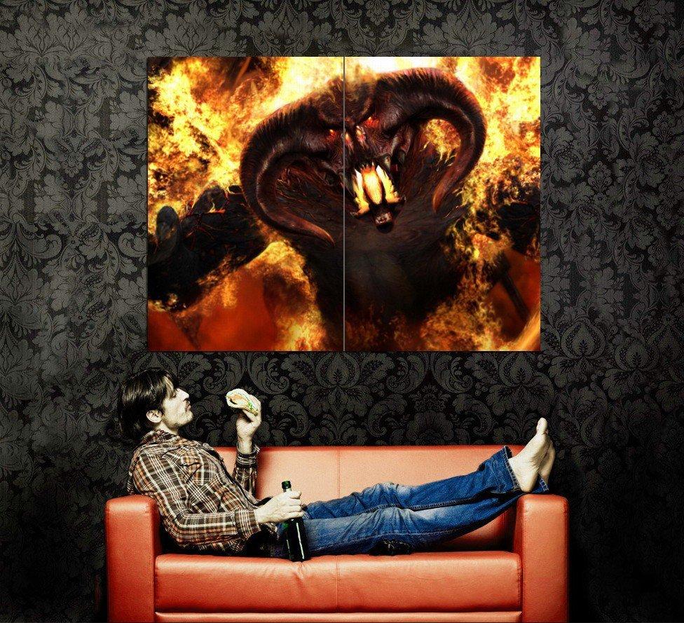 Diablo Video Game Art Huge 47x35 Print Poster