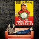 Dig For Victory War Time Retro Vintage Art Huge 47x35 Print Poster