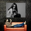 Alicia Keys Hot Singer BW Huge 47x35 Print Poster
