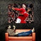 Manchester United Wayne Rooney Nani Huge 47x35 Print Poster