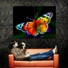 Fractal Butterfly Light Art Huge 47x35 Print Poster