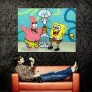 Spongebob Square Pants Art Huge 47x35 Print Poster