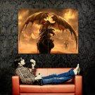 Fantasy Dragon Art Huge 47x35 Print Poster