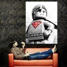 Lego Superman Cool BW Art Huge 47x35 Print Poster
