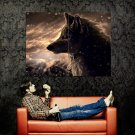 Amazing Wolf Artwork Scars Snow Huge 47x35 Print Poster