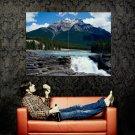 Amazing Waterfall Landscape Nature Art Huge 47x35 Print Poster