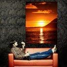 Beautiful Sunset Sea Nature Huge 47x35 Print Poster