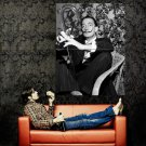 Salvador Dali Surrealist Painter BW Huge 47x35 Print Poster